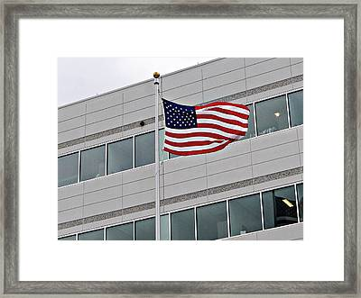 Corporate Americans Framed Print by Richard Reeve