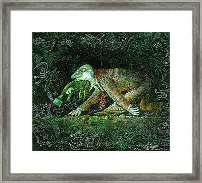 Corporate Predator Framed Print