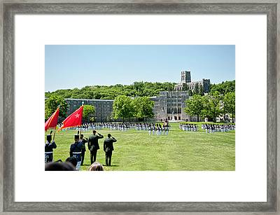 Corps Of Cadets Present Arms Framed Print