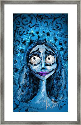 Corpse Bride Phone Sketch Framed Print