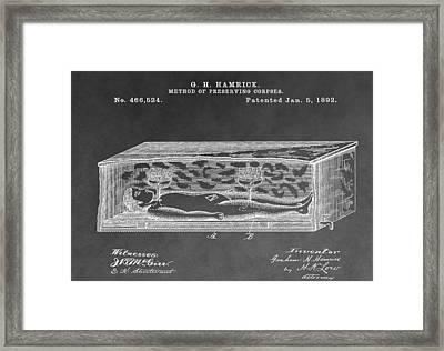 Corpse In Coffin Framed Print by Dan Sproul