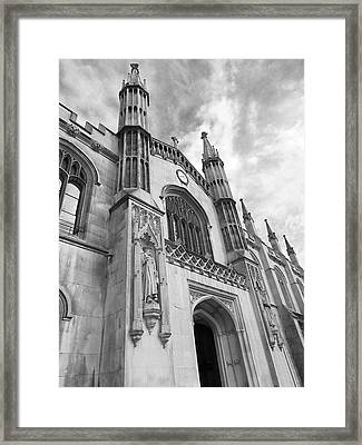 Corpus Christi College Cambridge Entrance Framed Print by Gill Billington