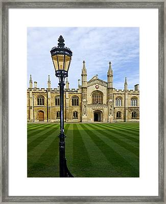 Corpus Christi College Cambridge Framed Print by Gill Billington