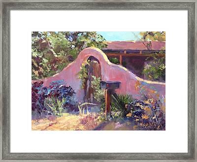 Corrales Adobe Wall And Gate IIi Framed Print