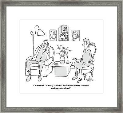Correct Me If I'm Wrong Framed Print