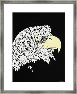 Correction Tape Eagle Framed Print by Nathan Shegrud