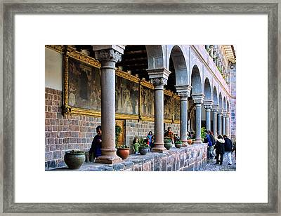 Corrido With Paintings Framed Print