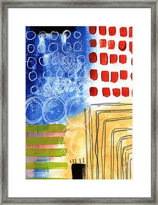 Corridor- Colorful Contemporary Abstract Painting Framed Print by Linda Woods