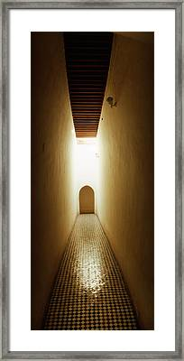Corridor Inside The Bahia Palace Framed Print