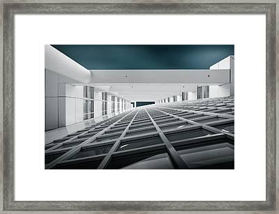 Corridors Of Power Framed Print by Michiel Hageman