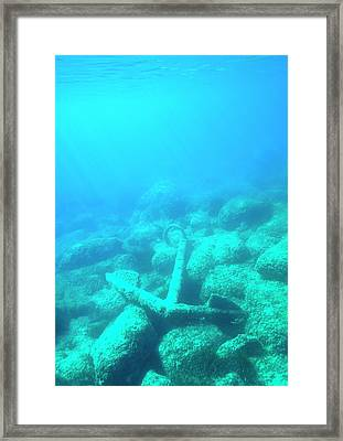 Corroded Fisherman's Anchor Framed Print by David Parker