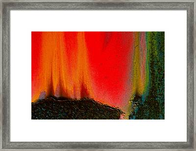 Corrosion Abstract Framed Print