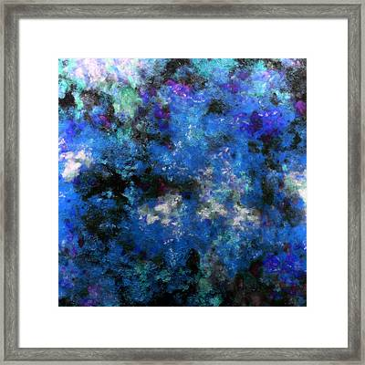 Corrosion Bleue Framed Print by RochVanh