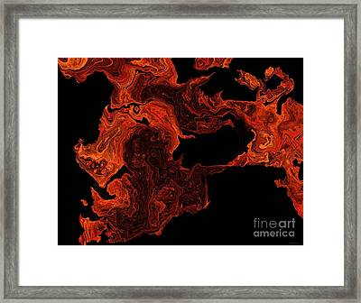 Corrosion / Swimming In The Void  Framed Print by Elizabeth McTaggart