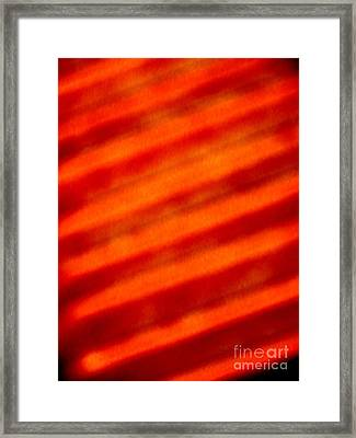 Corrugated Orange Framed Print