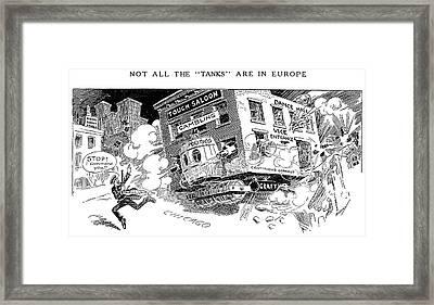 Corruption Cartoon, 1916 Framed Print by Granger