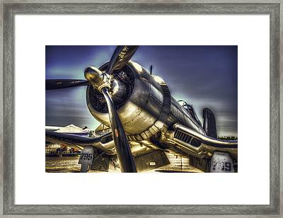 Corsair Airplane Framed Print by Spencer McDonald