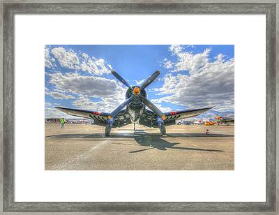 Corsair On The Flight Line At Reno Air Races Framed Print