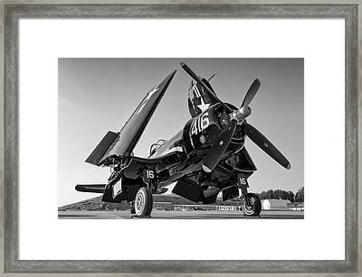 Corsair On The Ramp Framed Print