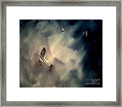 Framed Print featuring the painting Corsair Sketch 2 by Stephen Roberson
