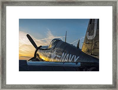 Corsair Sunset Framed Print