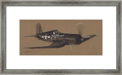 Corsair Triple Ace Framed Print