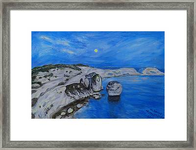 Corsica Bonifaccio Evening Framed Print by Agnieszka Praxmayer