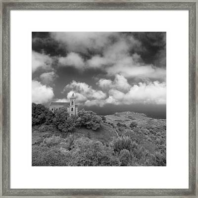 Framed Print featuring the photograph Corsican Church by Brad Brizek