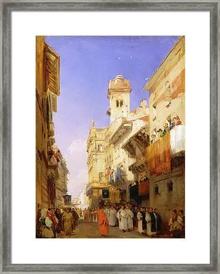Corso Santanastasia, Verona Corso Santanastasia Framed Print by Litz Collection
