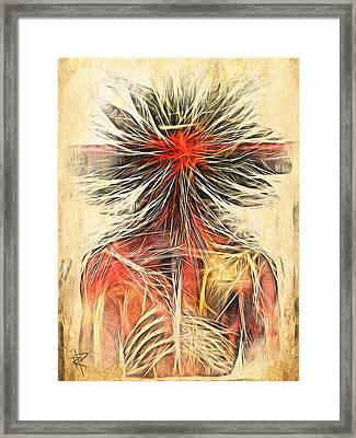 Cortex Man Framed Print by Russell Pierce