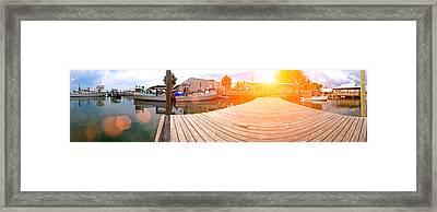 Cortez Fishing Village Framed Print