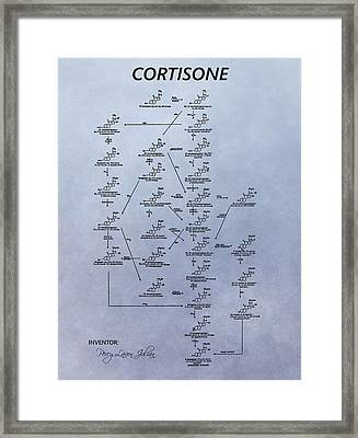 Cortisone Patent Framed Print