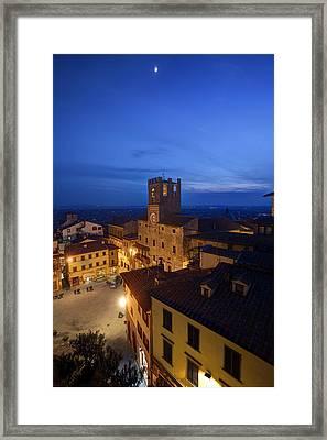 Cortona Tuscany Dusk Framed Print by Al Hurley