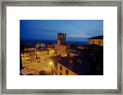Cortona Tuscany Dusk Framed Print