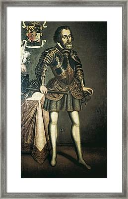 Cort�s, Hern�n 1485-1547. Painting Framed Print by Everett