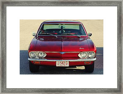 Corvair Framed Print by Frozen in Time Fine Art Photography
