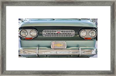 Chevrolet Corvaire95 Truck Grill Framed Print