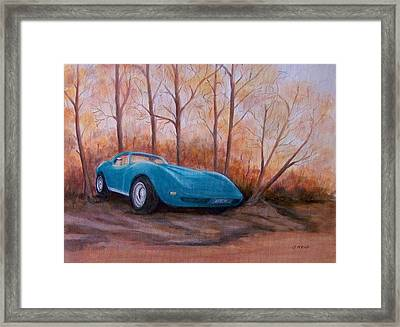 Corvette 1974 Framed Print by Jane Landry  Read