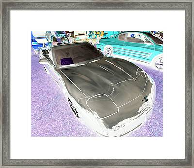 Framed Print featuring the photograph Corvette 2003 50th Anniv. Edition by John Schneider