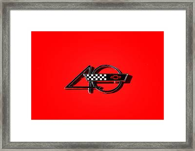 Corvette 40 Framed Print by Phil 'motography' Clark