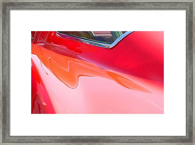 Framed Print featuring the photograph Corvette Beautiful Art Lines by Jeff Lowe