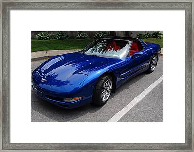 Corvette By Chevrolet At Fifty Framed Print