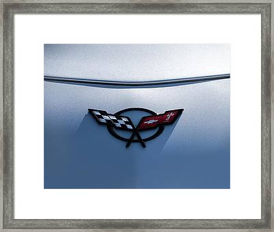 Corvette C5 Badge Framed Print by Douglas Pittman