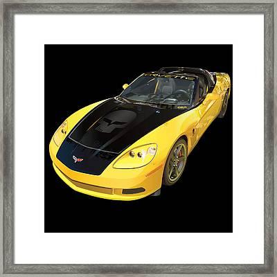 corvette C6 on black Framed Print by Alain Jamar