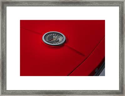 Corvette Chevy Antique Framed Print
