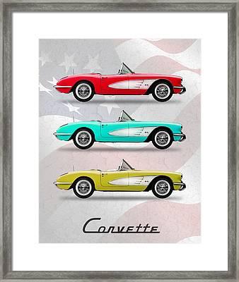 Corvette Collection Framed Print by Mark Rogan