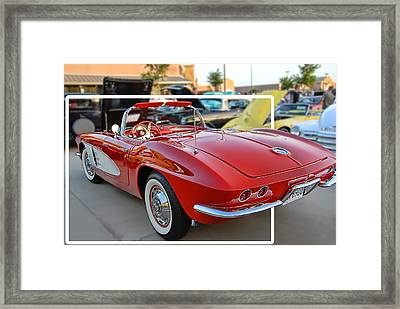 Framed Print featuring the photograph Corvette Cool by Dyle   Warren