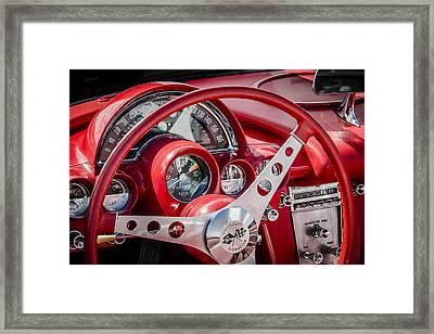 Corvette Dash Framed Print by Bradley Clay