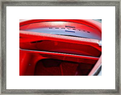 Corvette Dash - Mike Hope Framed Print