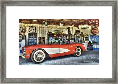 Corvette Dreams Framed Print by Bob Christopher